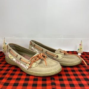 SPERRY TOP SIDER ~Beige Leather Coral 9180142